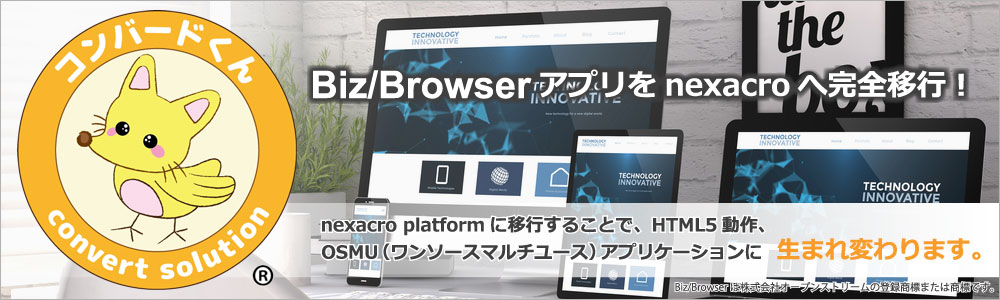 Biz/Browser to nexacro